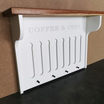 Coffee Cup Shelf with Pod Holder